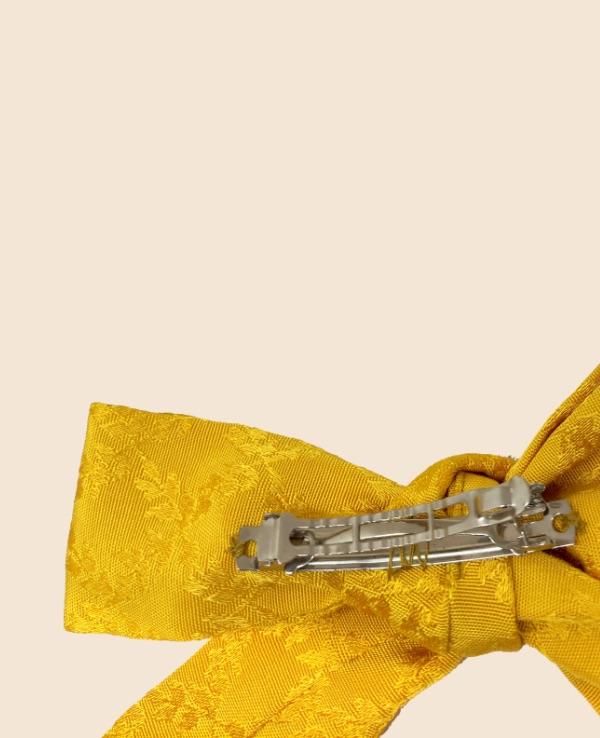 Lazo en tejido valenciano amarillo
