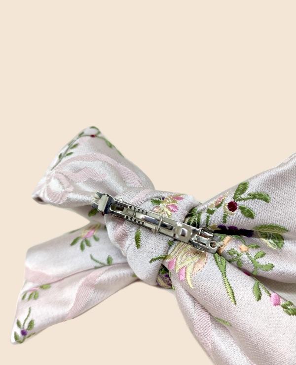 Lazo en tejido valenciano rosa