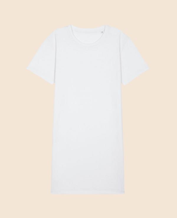 Vestido blanco bordado espalda