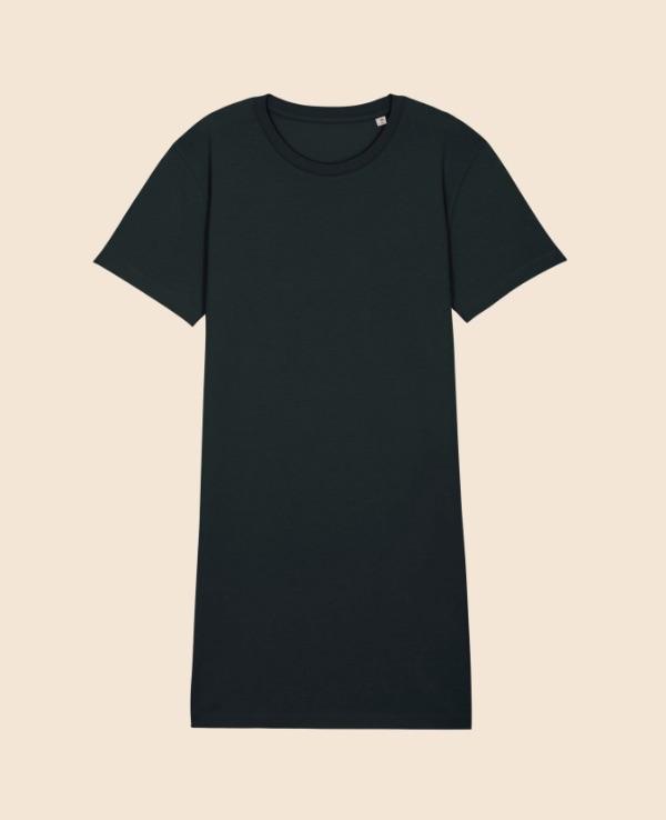 Vestido negro bordado espalda